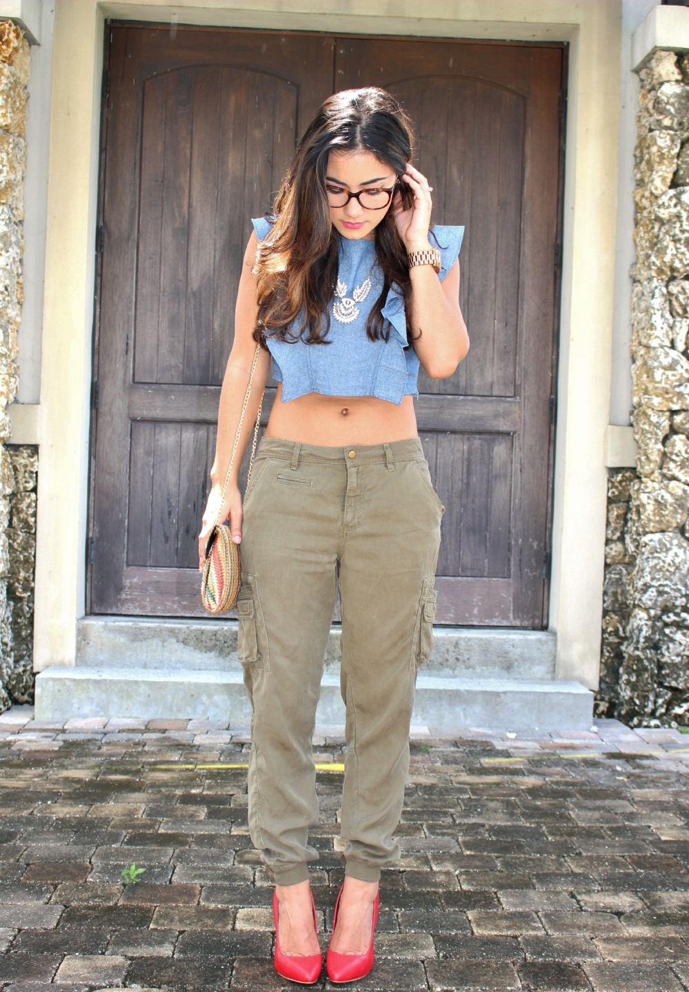 Chambray Crop Top 5
