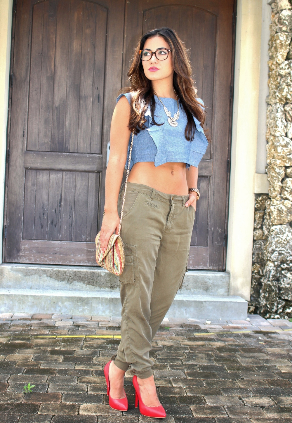 Chambray Crop Top 6